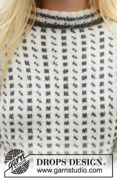 Knitted jumper with Nordic Icelandic pattern and raglan in DROPS Lima. The piece is worked top down. Sizes S - XXXL. Drops Design, Fair Isle Knitting Patterns, Knit Patterns, Top Down, Work Tops, Raglan, Crochet Fashion, Free Knitting, Groomsmen