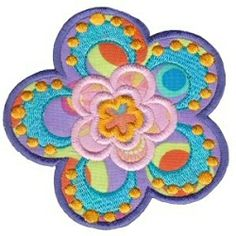 Fabulous Flowers Applique 4, SWAK Pack - 4X4!   Floral - Flowers   Machine Embroidery Designs   SWAKembroidery.com Bunnycup Embroidery