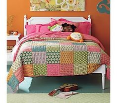 fun colors & an easy quilt to make by jenny