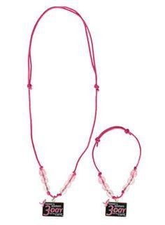 Komen 3-Day Slip Knot Hemp Necklace & Bracelet Set at Shop3Day.com