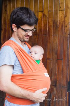 The pros and cons of wearing your newborn in a stretch wrap carrier. Comfort, safety, and every concern you might have tackled all in one spot!