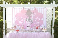 Pink and Pretty Ballet Birthday Party.....really like this!