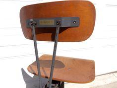 RESTOCKED!!  Vintage Singer Industrial Factory Sewing Chair / Stool - TREASURY Item on Etsy, $94.95