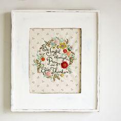 """""""be joyful"""" embroidery by nanaCompany"""