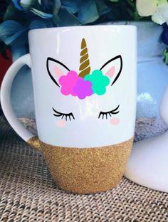 Unicorn Coffee Mug Glitter Mug Unicorn Gift Gift for Mom Gift for Her Latte Mug Unicorn Cup Unicorn Mug Glitter Dipped Coffee Mug by AveryAnnBoutique on Etsy