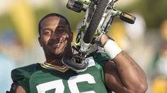 Mike Daniels on the way into training camp for the Green Bay Packers