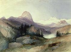 Thomas Moran, like how he painted the trees