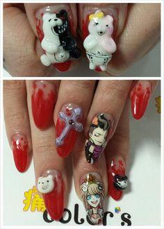 ダンガンロンパ : Character nail art