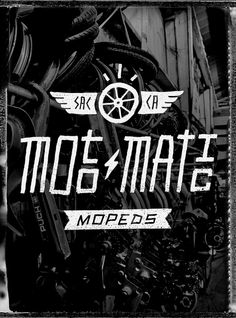 Moto-matic Mopeds by Dog, via Flickr    #logo, #moped, #rad
