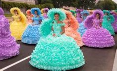 Azalea Trail Maids of of Mobile, Alabama participate annually in Macy's Thanksgiving Day Parade in New York City