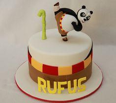Rufus' Kung Fu Panda Cake by MyCakes.com.au, via Flickr Kung Fu Panda Cake, Panda Cakes, Panda Birthday Cake, Bolo Panda, Boy Birthday Parties, Birthday Ideas, Clay Bear, Rock Star Party, Panda Party