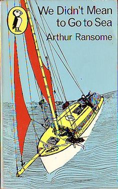 We Didn't Mean to Go to Sea, by Arthur Ransome. http://eye-candy-for-bibliophiles.blogspot.com.au/2009/01/arthur-ransome-swallows-and-amazons.html