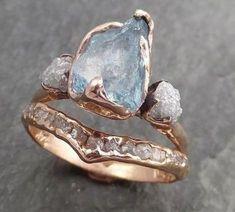 Raw Stone Engagement Rings, Dream Engagement Rings, Vintage Engagement Rings, Cute Rings, Pretty Rings, Unique Rings, Custom Wedding Rings, Diamond Wedding Rings, The Bling Ring