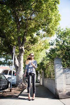 fashiontoast | 07/15/2012 fade to black Theory sweater, Isabel Marant belt, Diesel jeans, Theyskens' Theory heels, Proenza Schouler bag, Céline sunglasses.