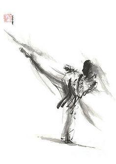 Kyokushin Art Print featuring the painting Kyokushin Karate Poster Kumite Full Contact Japanese Matrial Art by Mariusz Szmerdt Martial Arts Quotes, Martial Arts Workout, Martial Arts Women, Martial Arts Humor, Boxing Workout, Shotokan Karate, Kyokushin Karate, Karate Kata, Full Contact