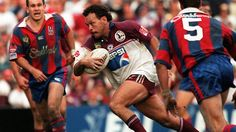 16. Cliff Lyons 1986-99 (309 games)  Five Eighth  Lyons a Clive Churchill Medallist and two-time Dally M Medallist, he made over 300 first-grade appearances with the Manly-Warringah Sea Eagles, winning grand finals with them in 1987 and 1996, and also represented New South Wales and Australia.  Known as Napper or Cliffy he was notable for his elusive cross-field runs, creating doubt in the minds of defenders and setting up gaps for support players to run back into.