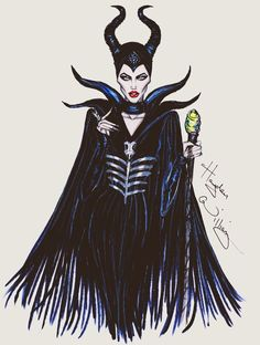 Hayden Williams Fashion Illustrations: Maleficent collection by Hayden Williams: