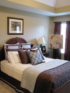 Blue Brown Bedroom Living Room Or Bathroom Bedrooms Estilo Colonial