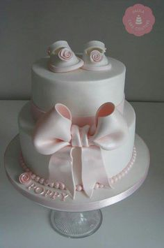 Baby shower cake... Could change it if its a boy to blue.