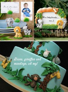 safari animal theme - free printable templates for cupcake toppers, napkin holders and other party ideas. 6th Birthday Parties, Birthday Fun, Birthday Ideas, Safari Party, Jungle Party, Safari Theme, Skylanders, Peppa Pig, Safari Cupcakes