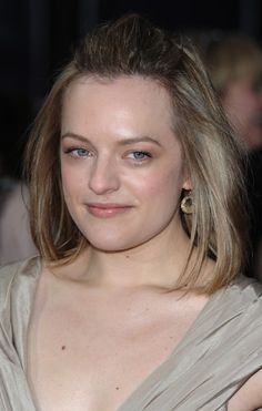 Elisabeth Moss front poof hairstyle