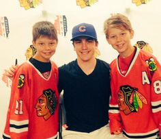 Newly resigned #Blackhawks defenseman Trevor Van Riemsdyk stopped by hockey camp to pose for pictures and sign autographs!