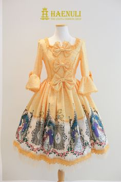 Beauty and the Beast by Haenuli - cream yellow Rococo Fashion, Lolita Fashion, Dressing, Princess Daisy Costume, Disney Princess Fashion, Kawaii Dress, Japanese Street Fashion, Harajuku Fashion, Lolita Dress