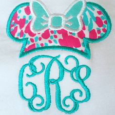 Minnie Mouse Lilly Pulitzer Monogram short sleeve shirt! Perfect for a trip to Disney! Your choice of fabric! NEW fabrics!!