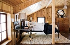 Wisconsin North Woods cabin renovated by architect Patrick McGuire. Chicago Home + Garden.