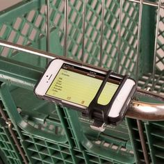 The HandleBand Universal Smartphone Bar Mount allows you to securely attach your phone to a handlebar, making it conveniently accessible to use while riding, walking, or running. Made with a lightweight expandable silicone with an aluminum base at its core, the single band securely wraps around nearly any sized bar - including bicycles, jogging strollers, and shopping carts.