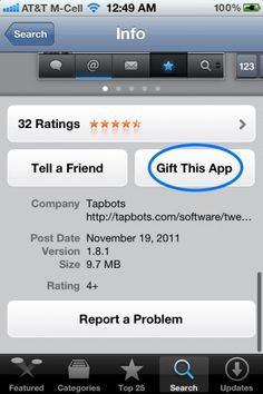 How To Gift An iPhone, iPad or iPod Touch App