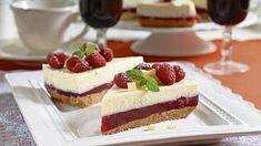 Nepečená dobrota krok za krokom: Malinová torta s mascarpone - Pluska. Ice Cream Candy, Cheesecakes, No Bake Cake, Cake Cookies, Health, Food, Anna, Cooking, Mascarpone