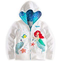 Ariel Hoodie for Girls - Personalizable | Fleece & Outerwear | Disney Store