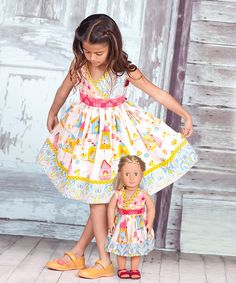 Take a look at the White Iris Abbey Dress & Doll Dress - Infant, Toddler & Girls on #zulily today!