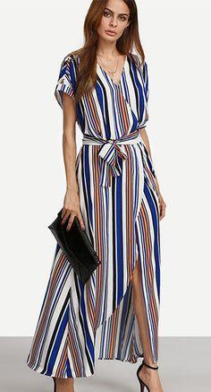 Women's Fine Stripe Casual/Daily/Party/ Vintage/Street chic Sheath Dress