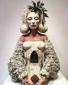 red - woman - Lisa Clague - figurative sculpture