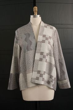 Checker Jacket in Gray and Lavender Mix