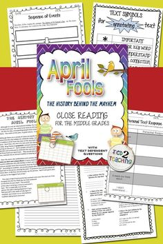 This close read pack includes 1 short close reading informational passage on the history April Fools Day. In addition to the passage, you will also receive an accompanying set of text dependent questions that will drive students back to the text to gain deeper understanding. Also included is 1 OPINION writing to text prompt that will help to tie together your literacy instruction as well as 3 graphic organizers to help students make connections and organize their thinking.