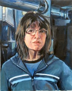 Deb Putnam:  Art from a self portrait contest I entered.  I like her expression, looks very real to me!