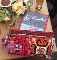 Foodie time x Soukie Clutch Bag with Moroccan Pom Pom