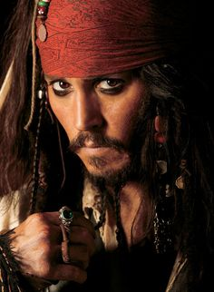 Johnny Depp as Jack Sparrow in Pirates of the Caribbean: The Curse of the Black Pearl - Photoshoot