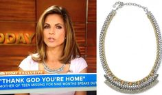 The Stella Dot Cassady Collar Necklace ($79) was the perfect accent to a bright pink T-shirt on Natalie Morales on the Today Show recently.
