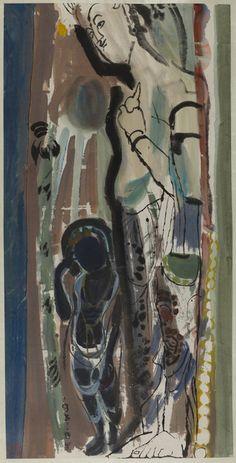 Yuan Yunsheng, 'Dunhuang Sketch No. 7,' 1981, China Institute Gallery