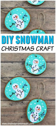 Snowman Ornaments for Christmas · These easy snowman crafts are a great christmas decoration to make with kids. Use your fingerprints to paint the snowmen. #christmasdecor #decoration #kidscrafts #christmascrafts #diyornaments #frugalliving #christmasgifts #christmasactivitiesforkids
