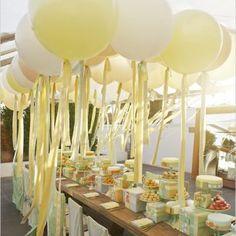 Оформление свадебного стола в декоре свадьбы шарами