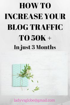How to Increase Blog Traffic to 50k+ in just three months using these blogging tips.