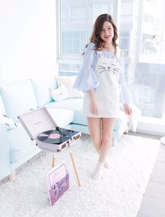 Emma Verde, Youtubers, Barbeau, Amelie, Dress Up, White Dress, Celebrities, Outfits, Inspiration