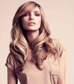 Lovely hair and color. Like darker honey.