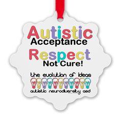 Autistic Acceptance #Ornament #Autism #ASD #Aspergers #Neurodiversity #AutisticAcceptance