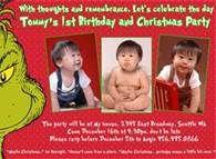 grinch birthday invitations